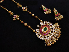 Sabyasachi Kundan necklace Meenakari Kundan necklace Traditional IndianJewelry
