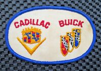 "CADILLAC BUICK EMBROIDERED PATCH DEALER LOGO GM UNIFORM  4 1/2"" x 2 3/4"""
