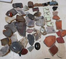 Assorted Slabs, End Cuts, Pieces-Varascite,Leland Blue,Pink Limb Cast, Many More