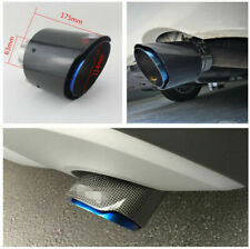 "2.5""-4.5"" 100% Real Carbon Fiber &Stainless Steel Exhaust End Tail Pipe Tips &"