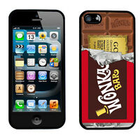 Willy Wonka Golden Ticket Chocolate Apple iPhone & Samsung Cover Case