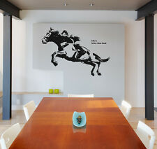 Jumping Horse Racing Rider Removable Wall Sign Decorative Decal Vinyl Sticker