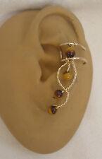 Left  Single Tiger's eye earcuff/ ear clip  #79TE
