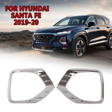FIT For Hyundai Santa Fe 2019-2020 Chrome Front Headlights light lamp Cover Trim