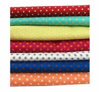 18''x22''Printed Polka dot Cotton Quilting Fabric for Patchwork Craft DIY 7 PCS