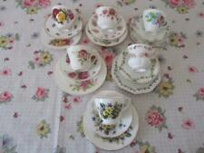 6 Vintage TRIOS Tea Cup & Saucer Plate Mismatched English China High Tea Party C