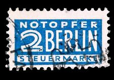 Germany 1952 /  Notopfer Steuermarke /Tax Stamp RA1 / Rebuild Berlin /Used