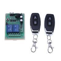 433Mhz 12V 2 Relay Wireless Remote Control Switch+2pcs Two Key Remote Control RC