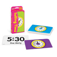 Telling Time Flash Cards - Classroom & Home Use - Fun Learning - Analog/Digital
