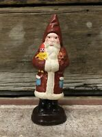 """Cast Iron Father Christmas Santa Claus 5"""" German Belsnickle Figurine"""