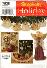1997 UNCUT Simplicity Holiday Sewing Pattern Collection # 7938 Christmas Decor