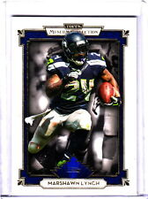 2013 Topps Museum Collection Marshawn Lynch Seattle Seahawks Sapphire Parallel