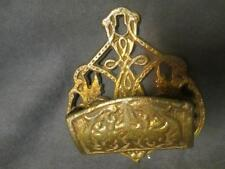 Victorian Cast Brass Match Safe Holder - Barrel shape   ks5