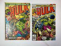 Hulk lot of 2 comics: Issues 198 209 Marvel Low Grade