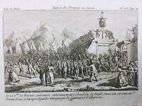 Savoie Chambéry en 1792 Entrée des Français en Savoie Rare Révolution Française