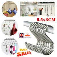 Stainless Steel S Shape Hooks Storage Hanger Kitchen Bathroom Door Hook 6.5*3 CM