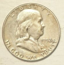 🍁 1952 US Half Dollar Franklin 50 Cents 90% Silver  #4179