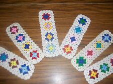 1 New Handmade Crochet Bookmark--Granny Square--Great Group Gifts