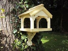 Bird Table wooden/wall fence mounted