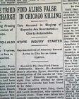 DIAMOND JOE ESPOSITO Chicago Prohibition Gangster Mobster MURDER 1928 Newspaper
