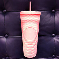 Ships from Canada! STARBUCKS Matte Pink Studded Bling Cold Cup Tumbler Venti
