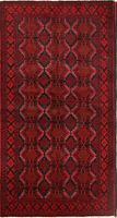 """Great Deal Excellent 4x6 Wool Balouch Afghan Oriental Area Rug 6' 5"""" x 3' 5"""""""