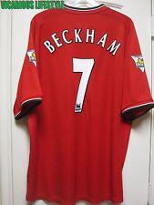 BECKHAM #7 Manchester United 2000-2002 Home Short-Sleeves Shirt Jersey XXL