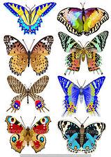 Adesivo Per Piastrle Farfalle 8er Set Piastrelle Bagno Cucina Mobili Decorazione