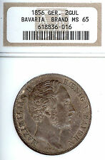 Germany Deutschland Bavaria 1856 2 Gulden Taler Coin Thaler NGC MS 65  F Stg