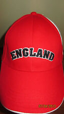 NWT England Red Hat White Cross of St Georges Gold Star Adjustable Back
