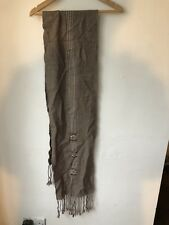 Brown Soft Cosy Wool Long Scarf Good Condition