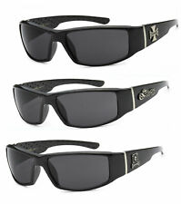 Choppers Motorcycle Biker Riding Wrap Sunglasses Glossy Black Frame