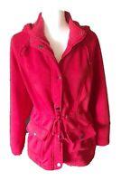 Miss Lili XL Zip-Up/Snap Red Jacket - Hood - Drawstring Waist