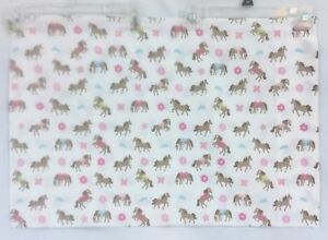 Circo Pretty Horses Ponies Pillowcase Pink Blue Print