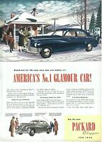 1945 Packard Automobile Vintage Print Ad Christmas America's No 1 Glamour Car