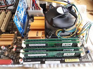Mainboard Asus P5B, Core Quad, 2,4Ghz und 4GB DDR2, 2GB Grafik, Kühler/Lüfter