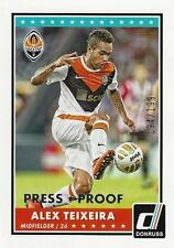 2015 Donruss Soccer Base Parallel Alex Teixeira Press Proof 194/199 Shakhtar