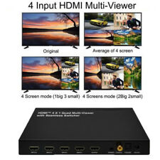 4x1 HDMI 4 Channel Quad Multi-Viewer Seamless Switch Switcher PIP Split Screen