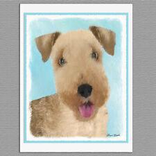 6 Lakeland Terrier Dog Blank Art Note Greeting Cards