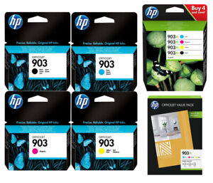 ORIGINAL TINTE PATRONEN HP 903 / 903XL OfficeJet 6950 6962 6960 6961 Fotopapier