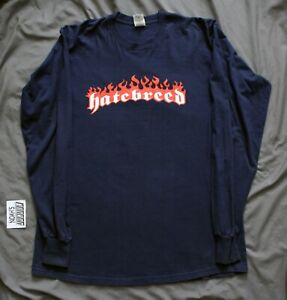 Vintage Hatebreed Burial For The Living Tour 1998 Long Sleeve XL Shirt NYHC RARE