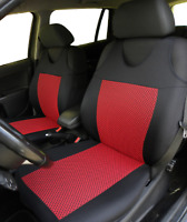 2 Red Front Car Seat Covers for Nissan Saab Seat