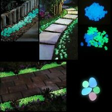 Fish Tank Decoration Luminous Stones Aquarium Glow In Dark Pabble Stone 100pcs