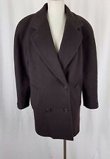 Jones New York Double Breasted Winter Wool Peacoat 3/4 Length Coat Womens L