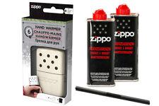 Zippo Handwärmer little Pocket size , pearl white + 2 x Zippo Benzin + MM MPL