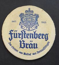 Ancien sous-bock bière FURSTENBERG BRAU bier coaster Bierdeckel 4