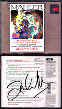 Zubin MEHTA Signiert MAHLER Symphony No.3 & 10 Adagio Florence QUIVAR 2CD Israel