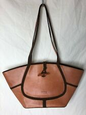 Claudia Firenze Italy Tan Camel Brown Natural Leather Bucket Bag Purse