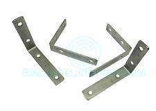 4x LARGE Trailer mudguard MOUNTING BRACKETS Stainless Steel Pre-drilled 15x10cm