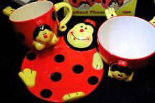 3pcs Child Kid Breakfast Set Mug Bowl Plate - Lizzie The Ladybird